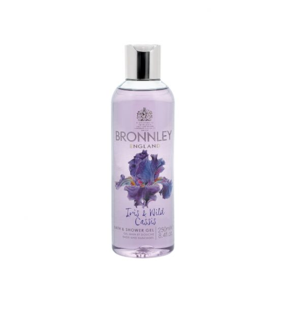 bronnely iris & cassis shower gel