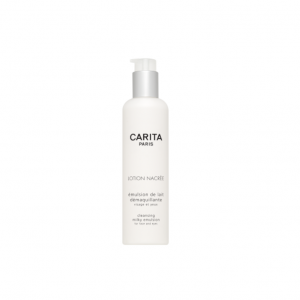 Carita-Les Nettoyants-Lotion nacree-Gels et Laits Nettoyants-emulsion de lait demaquillante-Flacon 200 ml